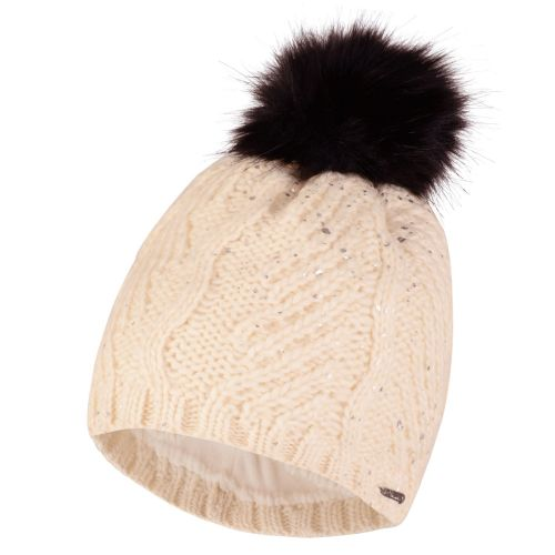 Dare2b WOMEN'S 'CRYSTALIZED' BOBBLE BEANIE HAT - White